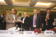 "Hon Shri Justice D. S. Naidu, Bombay High Court releasing the publication ""International Taxation – A Compendium"""