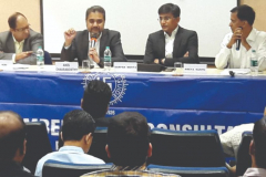 Panel Discussion - Seen from L to R: Mr. M. V. Kini, Mr. Anis Chakraborty, Mr. Darpan Mehta and CA Ameya Kunte