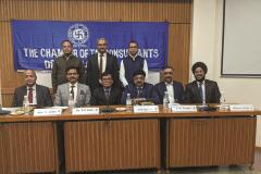 – Dignitaries on dais Standing from L to R: Prakash Sinha, Anil Maheshwari, Amit Maheshwari (All Committee Members of CTC Delhi Chapter) Sitting from L to R: Amit Khemka (Speaker), Ashwani Taneja (Speaker); Dr. R. N. Dash (Chairman of Sessions); Anil Agarwal (Co-Chairman of Sessions); Vijay Gupta (Chairman of CTC Delhi Chapter); Harpreet Singh (Committee Member of CTC Delhi Chapter)