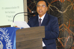 CA Rajesh L. Shah (Chairman) welcoming the speakers