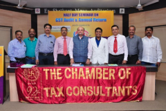 Half Day Workshop on GST Annual Returns & GST Audit Report Jointly with Tax Consultants Association, Kolhapur was held on 3rd November, 2018 at Shree Vishveshwarya MSEB Hall, Kolhapur