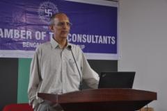 "CA P. Srinivasan, addressing the members on the subject ""Significant Economic Presence"""