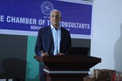CA H. Padamchand Khincha, Advisor addressing the members