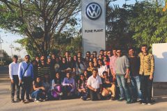 Industrial visit to Volkswagen Car Plant and Parag Milk Foods Pvt. Ltd. was held on 6th & 7th March, 2019 at Pune
