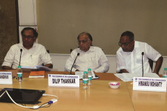 Brain Trust session chaired by CA Dilip K. Thakkar. CA Rashmin Sanghvi and Mr. Himansu Mohanty (Brain Trustees)