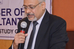 CA Nilesh Vithlani (Coordinator) welcoming the delegates