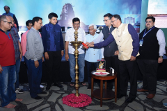 CA Vipul K. Choksi (President), CA Kishor Vanjara (Advisor, RRC Committee and Past President) and CA Mehul Sheth (Chairman) inaugurating the RRC by lighting the lamp. Seen from L to R: CA Ahit Rohira (Past President), CA Parimal Parikh (Past President), CA Bhavesh Vora (Past President), CA Sujal Shah (Past President), CA Bhavik Shah (Vice- Chairman), CA Vipin Batavia (Past President) and CA Ketan Vajani (Hon. Joint Secretary)