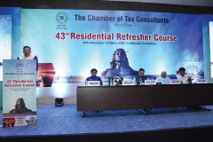 CA Mehul Sheth (Chairman) welcoming the delegates